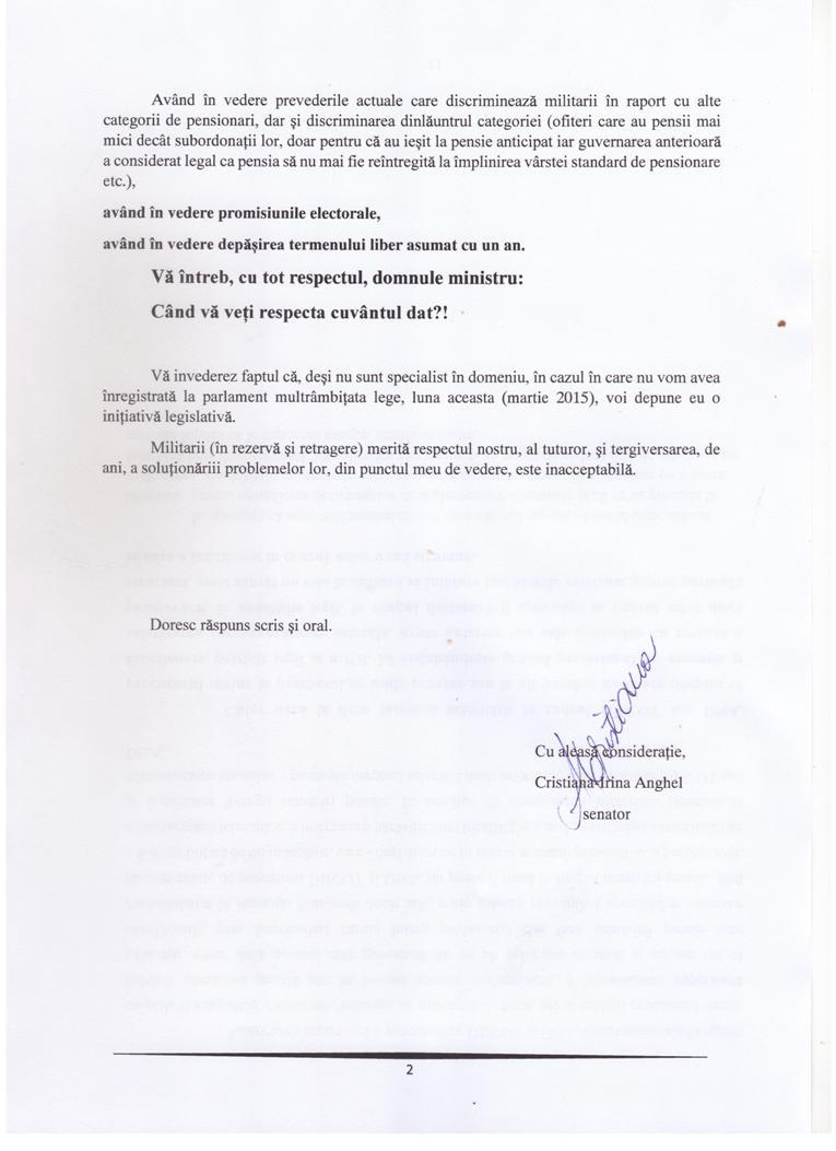 Intrebare Mircea Dusa si Gabriel Oprea - Pensii militare 09 martie 2015 pg. 2