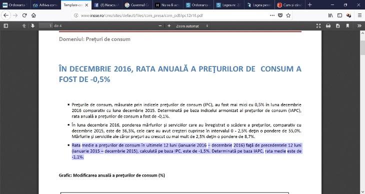 Dragnea - Sadismul guvernului Dragnea Rata-inflatiei-pe-2016